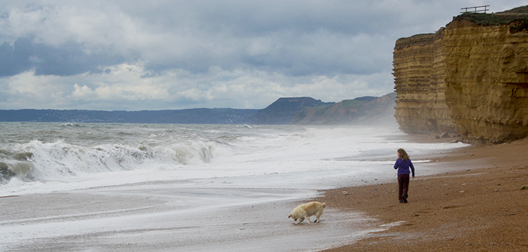 Jurassic Coast beach walk